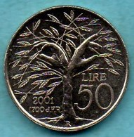 SAN MARINO / SAINT MARIN  50 Lire 2001 - San Marino