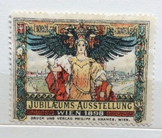 JUBILEUMS AUSSTELLUNG  WIEN 1898    ERINNOFILO CHIUDILETTERA  ETICHETTA PUBBLICITARIA - Francobolli