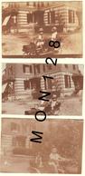 CHATEAU DE ERQUERY OISE 1929 - ENFANTS VOITURES A PEDALES - 3 PHOTOS DIM 6,5x4,5 Cms - Automobiles