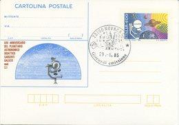 ITALIA - INTERO POSTALE 1985 - PLANETARIO ASTRONOMICO SORGENTI GALILEO - FDC - 6. 1946-.. Repubblica