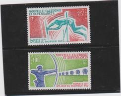 NOUVELLE CALEDONIE Sèrie Complète  2 T Poste Aérienne Neufs Xx  N°YT PA 122 123 - 1971 - Luftpost