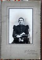 90 BEFORT L. Hattiger Photo CDV Grand Format  Militaire Du 42eme...  Rosalie - Krieg, Militär