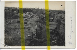 BELGIQUE FLANDRE LANGEMARK  CARTE PHOTO ALLEMANDE  TRANCHEE  MILITARIA 1914/1918 WK1 WW1 - Langemark-Poelkapelle