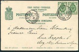 1901 Finland Abo/Turku Porthan Statue Postcard - Paris. Railway TPO? - 1856-1917 Russian Government