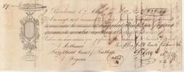 Lettre Change Illustrée 7/8/1827 GAY BORDEAUX GIRONDE - Foussard Bastide Figeac Lot - Lettres De Change