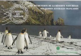 FRENCH ANTARCTIC, TAAF,  2017, MNH, PRESTIGE BOOKLET, CARNET DE VOYAGES, 4 PANES, WHALES, LOBSTERS, BIRDS, MOUNTAINS, - Polar Philately