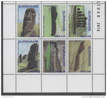 SURINAME, 2016, MNH, POLYNESIAN CULTURES, ARCHAEOLOGY, 6v - Culture