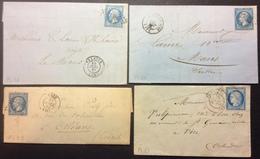 PL33 Calvados Falaise + Orbec En Auge + Caen + Caen - Postmark Collection (Covers)