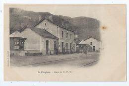 Cpa  -07  - Le Cheylard-  - Gare  -    - Animation   -  Selection - 1900  --1910 - Le Cheylard