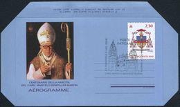 2018 Vaticano, Aerogramma Card. Marcello Gonzales Martin, Serie Completa USATA ANNULLO UFFICIALE - Interi Postali