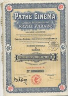 PATHE CINEMA - 3 ACTIONS DE 100 FRS  -  ANNEE 1930 - Cinéma & Théatre