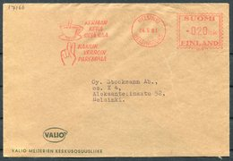 1961 Finland Helsinki Coffee Illustrated Franking Machine Cover - Finland