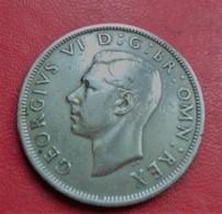 GRANDE-BRETAGNE - HALF CROWN 1949.(B6-11) - 1902-1971 : Monnaies Post-Victoriennes