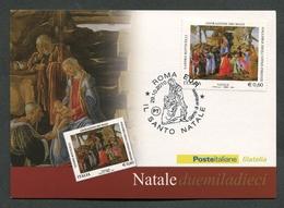ITALIA FDC CARTOLINA MAXIMUM CARD 2010 - IL SANTO NATALE ADORAZIONE DEI MAGI BOTTICELLI - 157 - Maximumkarten (MC)