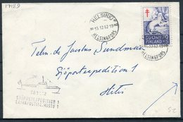 1962 Finland Paquebot Ship Cover. TB Charity - Briefe U. Dokumente