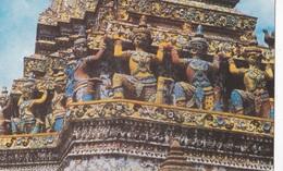 THAILANDIA DHONBURI SCENERY OF THE BASE OF THE PAGODA IN WAY ARUN  VG AUTENTICA 100% - Tailandia