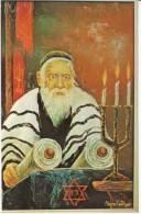 Morris Katz Artist Signed 'Zada', Rabbi Torah, C1960s Vintage Postcard - Jewish