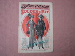 La Samaritaine 1911 -1913 - 2 Catalogues Soldes D'été  Et Soldes Fin De Saison TBE - Habits & Linge D'époque
