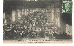 11 QUILLAN USINE BOURREL FABRICATION DE CHAPEAUX 1926 CPA 2 SCANS - France