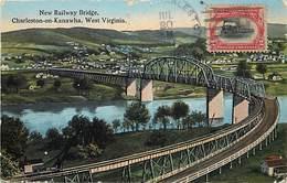 Pays Div -ref P972- Etats Unis D Amerique - United States Of America - Usa -charleston On Kanawha -railway Bridge - Charleston