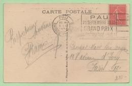 "FLAMME - PAU  ""PAU 21 SEPTEMBRE 1930 GRAND PRIX AUTOMOBILE CLUB DE FRANCE"" - 1921-1960: Modern Period"