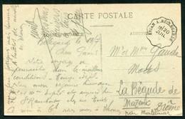 CACHET AMBULANT  - EVIAN A BELLEGARDE SUR CPA - Marcophilie (Lettres)