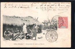 AFRIQUE - COTE D'IVOIRE - Campement De Noirs Au Baoulé - Côte-d'Ivoire