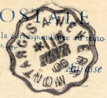 CACHET AMBULANT  - MONTARGIS A NEVERS SUR CPA SULLY SUR LOIRE - Marcophilie (Lettres)