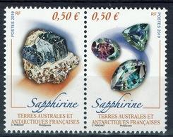 FSAT (TAAF), Mineral, Sapphirine, 2019, MNH VF  A Pair Se-tenant - Terre Australi E Antartiche Francesi (TAAF)
