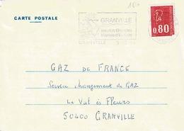 TP N° 1816 Seul Sur Carte Postale GDF De Granville - 1961-....