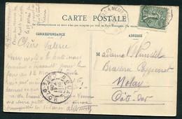 CACHET AMBULANT  - BEZIERS A NEUSSARGUES SUR CPA CARCASSONNE - Postmark Collection (Covers)