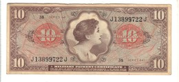 Series 641 10 Dollar USA MPC Military Payment Certificate Bb+ Lotto 1610 - Certificati Di Pagamenti Militari (1946-1973)
