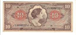 Series 641 10 Dollar USA MPC Military Payment Certificate Bb+ Lotto 1610 - Certificados De Pagos Militares (1946-1973)