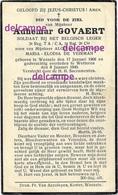 OORLOG GUERRE Adhemar Govaert Wanzele Soldaat En Overleden Te Wetteren 1940 De Veirman Lede - Images Religieuses