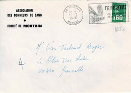 TP N° 1815c Seul Sur Enveloppe De Mortain - Poststempel (Briefe)