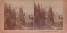 Ancienne Photo Stéréoscopique  1896 Wk Kilburn Chemin De Fer Needles Columbia River Oregon United States - Stereo-Photographie