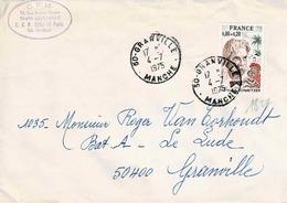 TP N° 1824 Seul  Sur Enveloppe De Granville - Marcophilie (Lettres)