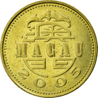 Monnaie, Macau, 10 Avos, 2005, British Royal Mint, TB+, Laiton, KM:70 - Macao