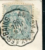 CACHET AMBULANT  - ANNECY A AIX LES BAINS SUR CPA GORGES DU FIER - Postmark Collection (Covers)
