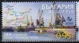 BULGARIA, 2018, MNH, PORTS, SHIPS, CRANES, 1v - Ships
