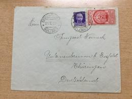 FL3489 Italien 1937 Brief Von Sesto In Pusteria Bolzano Nach Unterneubrunn Eichsfeld - Marcophilie