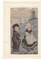 TISSEE SOIE  )) ENFANTS ET MOULIN ** - Embroidered