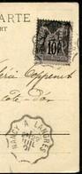 CACHET AMBULANT  - NANCY A LANGRES SUR CPA MORGES SUISSE - Marcophilie (Lettres)