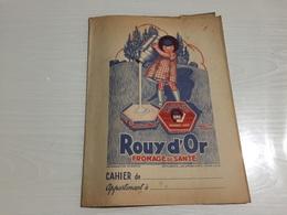 PROTÈGE CAHIER Ancien ROUY D'OR FROMAGE DE SANTÉ - Protège-cahiers