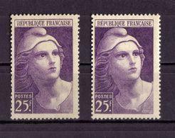 VARIETE DE COULEUR  (N° 731/731a) NEUF** - Variétés: 1945-49 Neufs