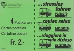 Suisse, Carnet D'entier Postale 1986/87 - Stamped Stationery