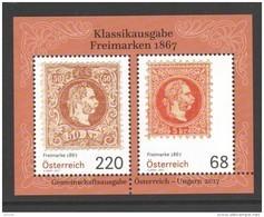 """Österreich 2017:  Block """"Freimarken 1867"""" Postfrisch (siehe Foto) - 1945-.... 2de Republiek"""