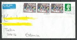 GREAT BRITAIN 2018 Cover Sent To Estonia - 1952-.... (Elizabeth II)