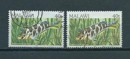 1984/86 Malawi Fish,poisson,fische Used/gebruikt/oblitere - Malawi (1964-...)