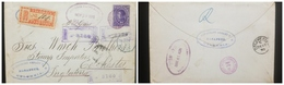 O) 1890 COLOMBIA-SENT BY FRENCH PAQUEBOT WITH OCTAGONAL-SENT LABRADOR VIA BORDEAUX, BY BAR OBLITERATOR WITH ADJACENT MAG - Colombia